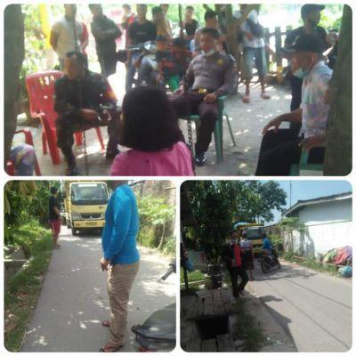 Warga Desa Wono Sogo Sari Tanjung Morawa Hadang Truk Tanah Timbun Pendirian Pabrik Kopi